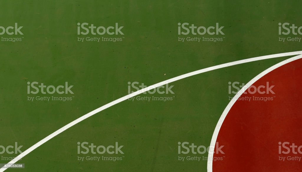 Aerial Outdoor Basketball Court Abstract Shapes Lines stock photo