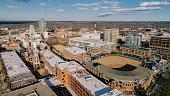 istock Aerial over Durham, North Carolina 1302524875