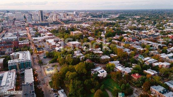 istock Aerial over Richmond, Virginia 1287450752