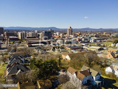 istock Aerial over Roanoke, Virginia 1304053910