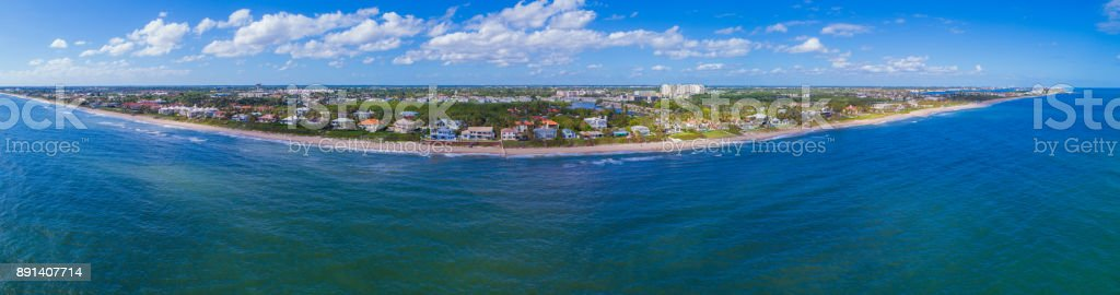 Aerial panorama Boynton Beach FL USA stock photo