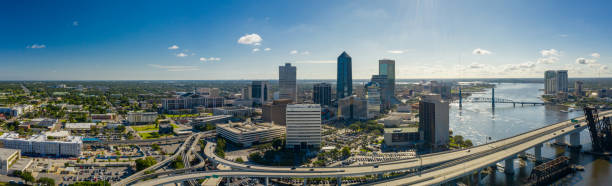Aerial panorama Jacksonville in the morning