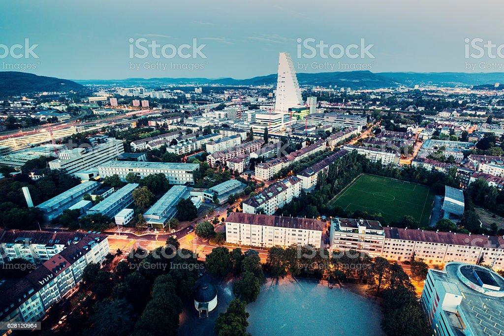 Aerial panorama of Basel – Foto
