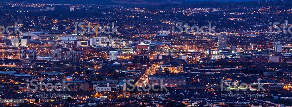 Vue aérienne de Belfast - Photo