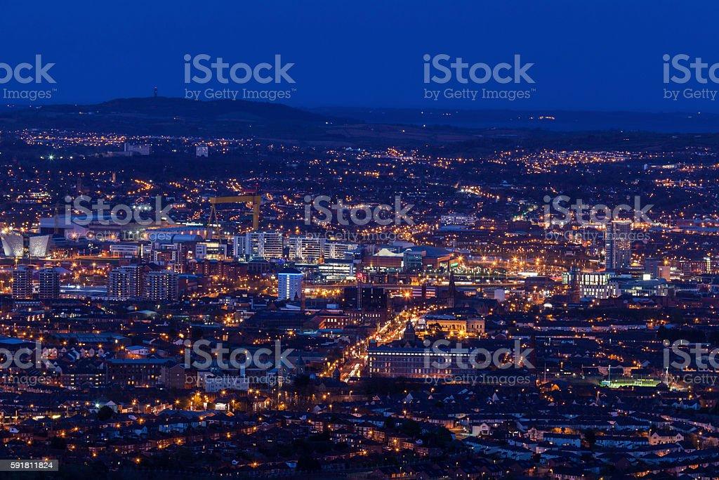 Vista aérea de Belfast - foto de stock