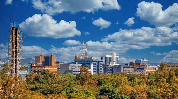 Aerial panorama of Gaborone city