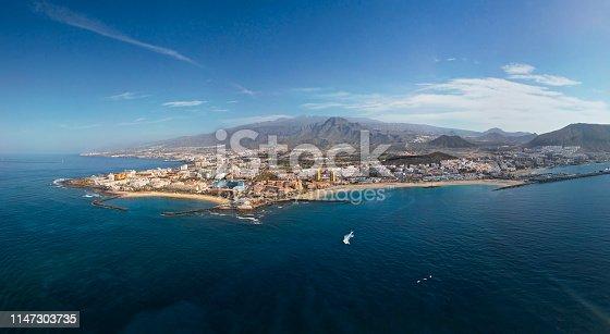Aerial view of Los Christianos resort, Tenerife