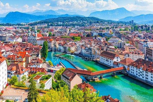 istock Aerial panorama of Lucerne, Switzerland 1030822690