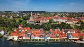 Aerial view of Meersburg, Germany