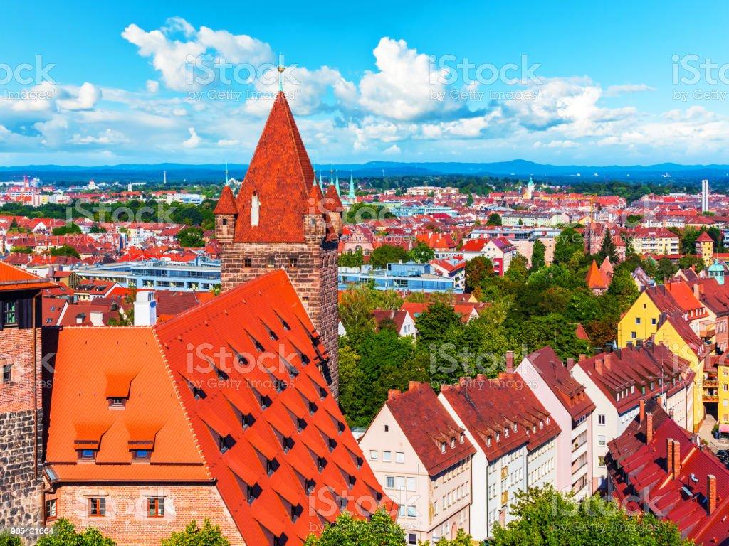 Aerial panorama of Nuremberg, Germany royalty-free stock photo