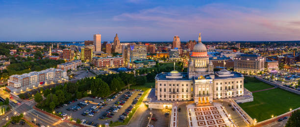 Aerial panorama of Providence, Rhode Island