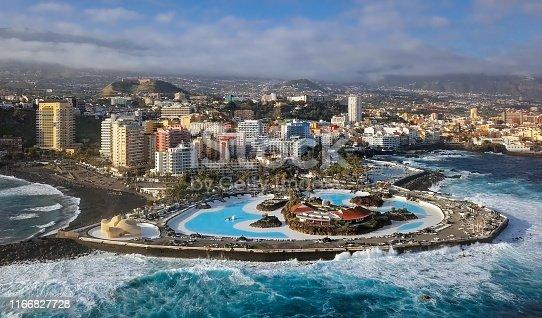 Aerial view of Puerto de la Cruz, Tenerife