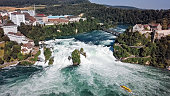 istock Aerial panorama of Rhine Falls, the largest waterfall in Switzerland and Europe. 1162180006