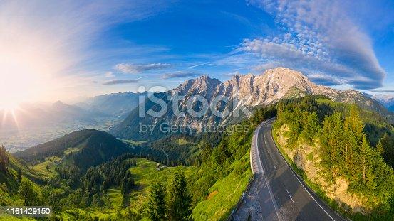 Bavaria, Berchtesgaden, Berchtesgadener Land, Germany, Above