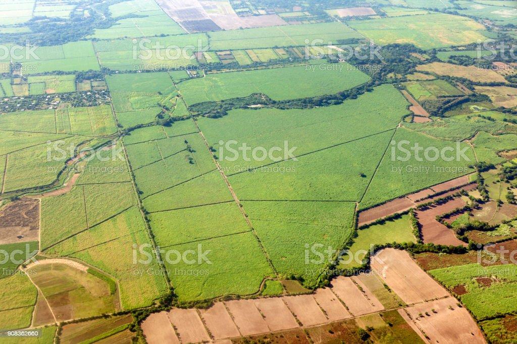 Aerial panorama of rural regions of El Salvador stock photo