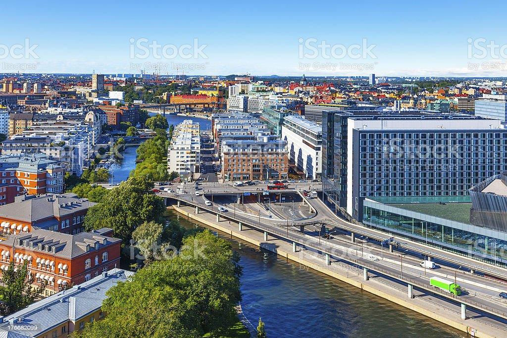 Vista aérea de Estocolmo (Suecia foto de stock libre de derechos