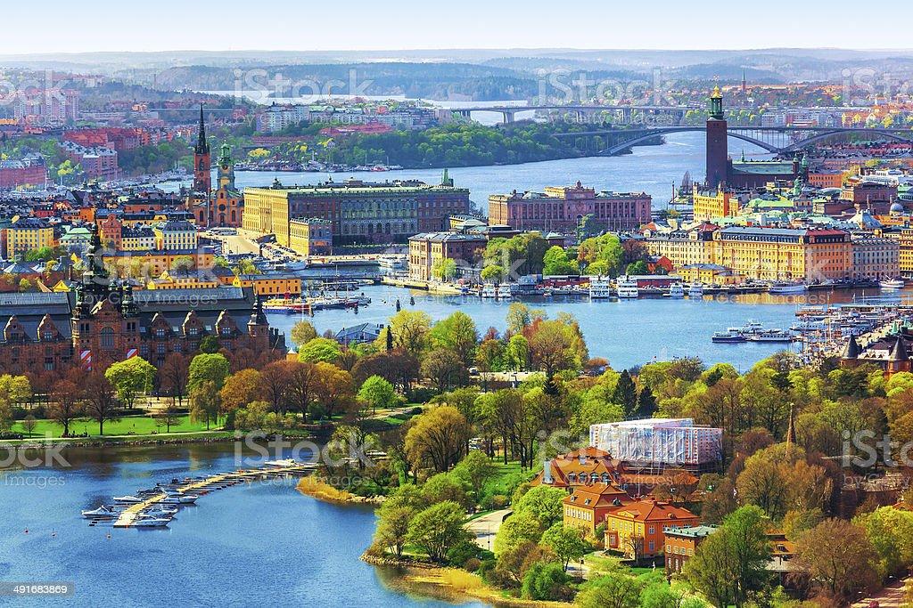 Luftbild-panorama von Stockholm, Schweden – Foto