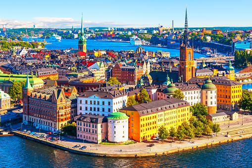 Luftbildpanorama Von Stockholm Schweden Stockfoto und mehr Bilder von Alt