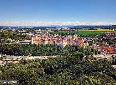 Aerial view of Melk Abbey, Austria