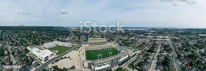 istock Aerial panorama of Tim Horton Stadium in Hamilton, Ontario, Canada 1330272019