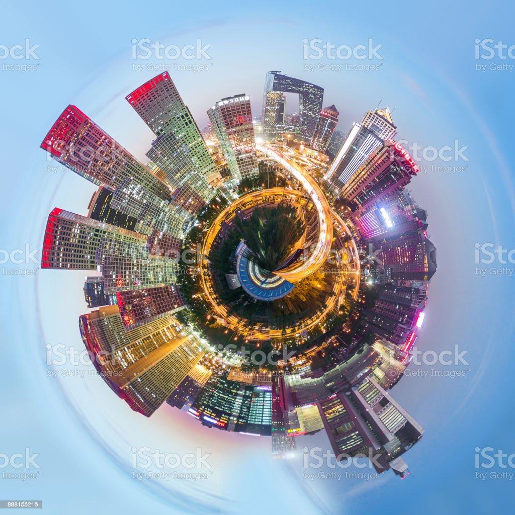Vista de 360° Panorama aéreo de Pekín - foto de stock