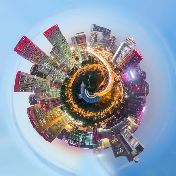 360° Aerial Panorama View of Beijing 360° Aerial Panorama View of Beijing 360 degree view stock pictures, royalty-free photos & images