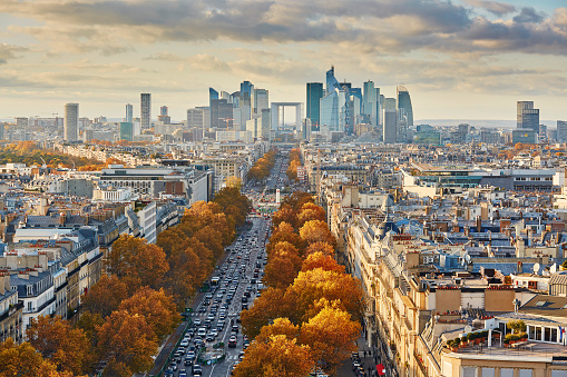Aerial Panoramic Cityscape View Of Paris France Stock Photo - Download Image Now