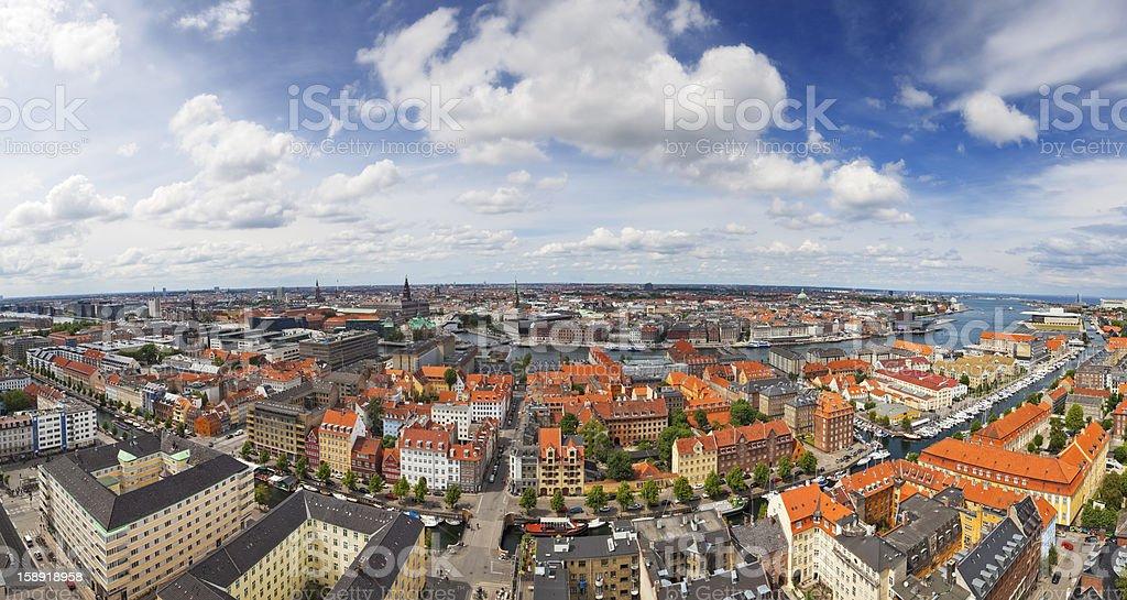 Aerial Panoramic View of Copenhagen ( XXXL ) royalty-free stock photo