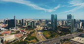 istock Aerial Panoramic view of San Isidro financial district in Lima, Peru. 1257639577