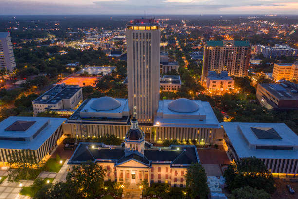 Aerial photo Downtown Tallahassee Florida State Capitol