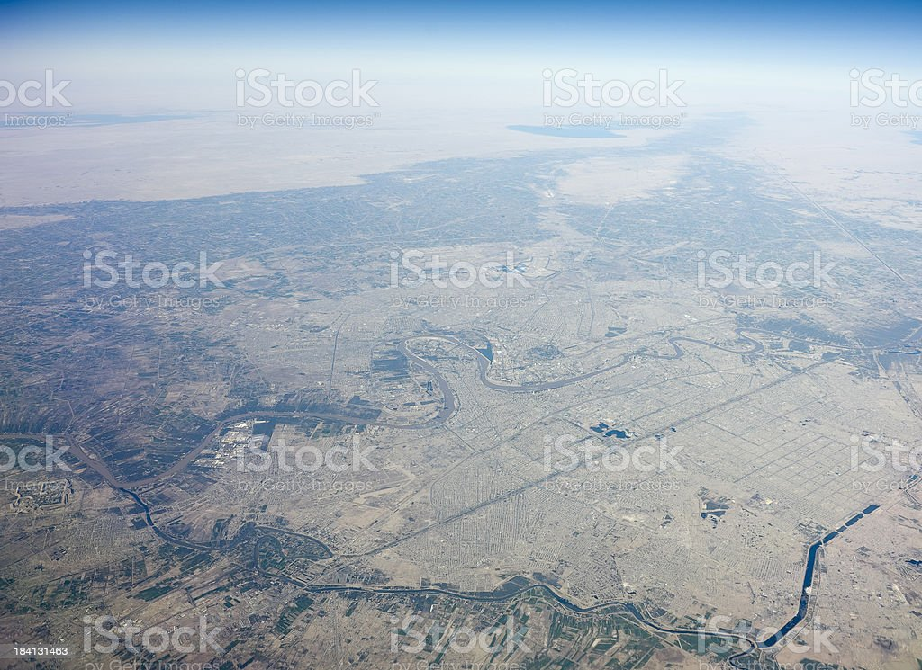 aerial photo from Baghdad royalty-free stock photo