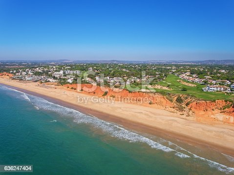 Aerial. Photo from the sky, golf courses Vale de Lobo. Portugal