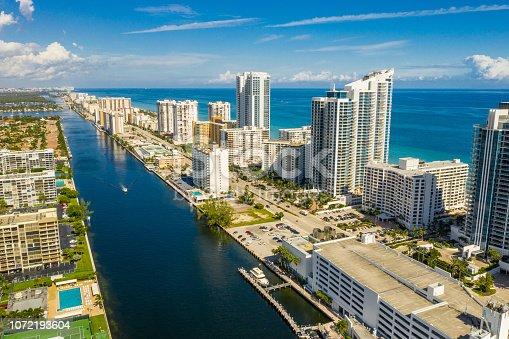 Aerial Hollywood Beach FL USA