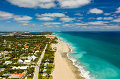 istock Aerial photo luxury mansion estate houses in West Palm Beach FL USA 1215733471