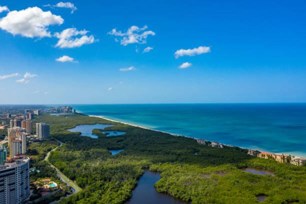 Aerial photo Naples Beach Gulf of Mexico