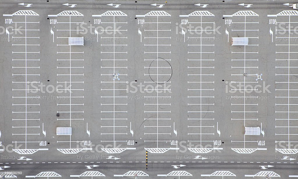 Aerial photo of a Parking Lot stock photo