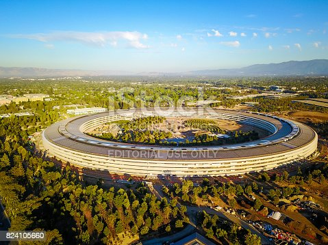 istock Aerial photo of Apple new campus under construction in Cupetino 824105660