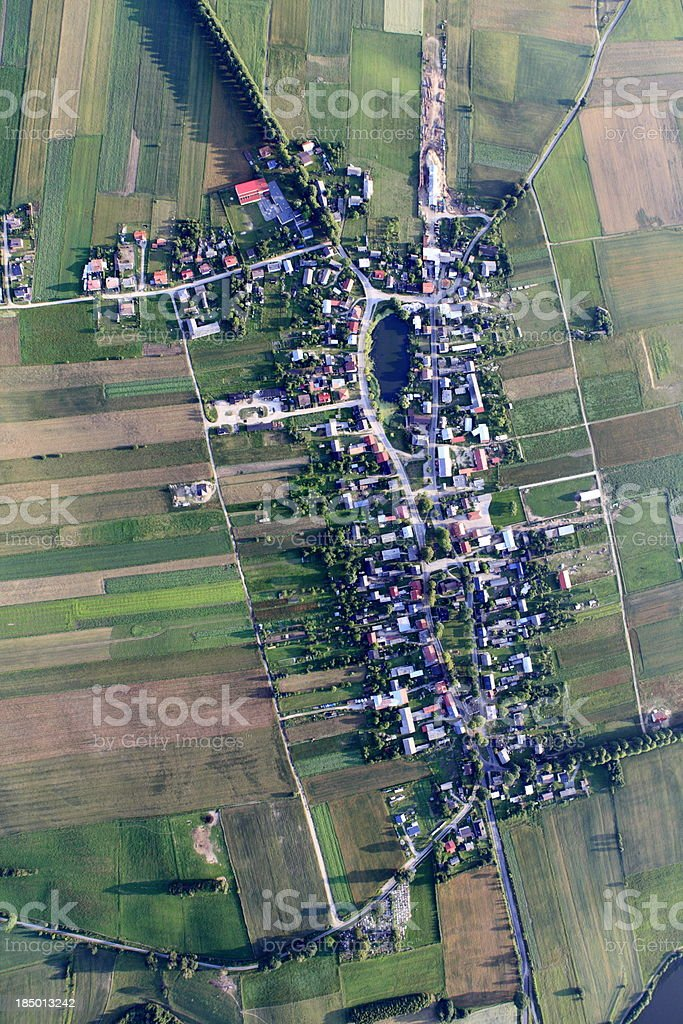 Aerial photo of Brzezno Szlacheckie village royalty-free stock photo