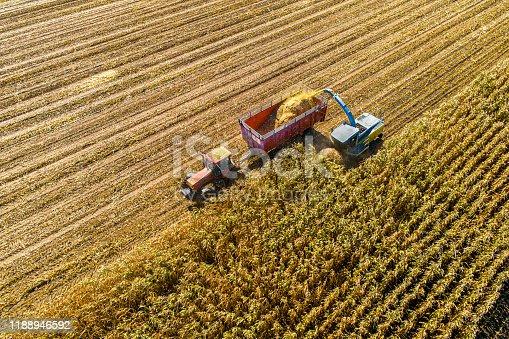 1072634078 istock photo Aerial Photo of Fall Harvest 1188946592