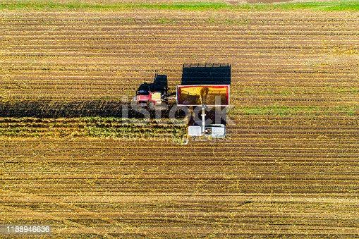 1072634078 istock photo Aerial Photo of Fall Harvest 1188946636