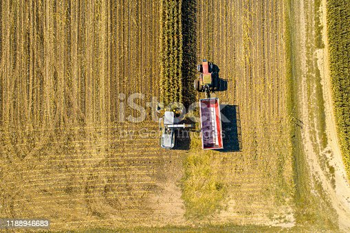1072634078 istock photo Aerial Photo of Fall Harvest 1188946683