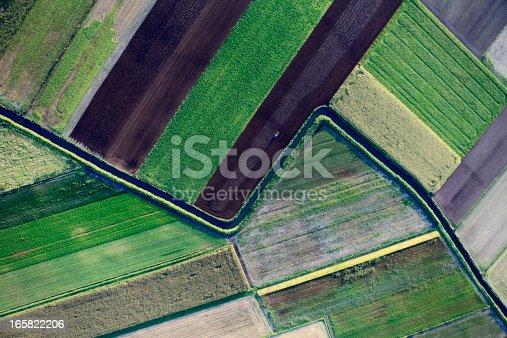 Aerial view of cultivated fieldshttp://marcinskiba.nazwa.pl/darek/farmland.JPG