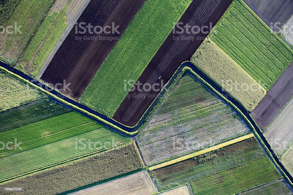 Aerial photo of farmland geography stock photo