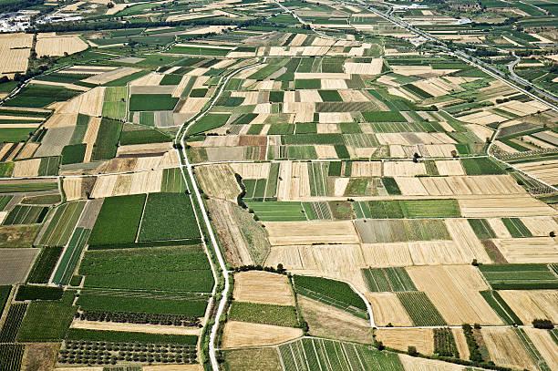 Aerial Foto von Ackerland – Foto