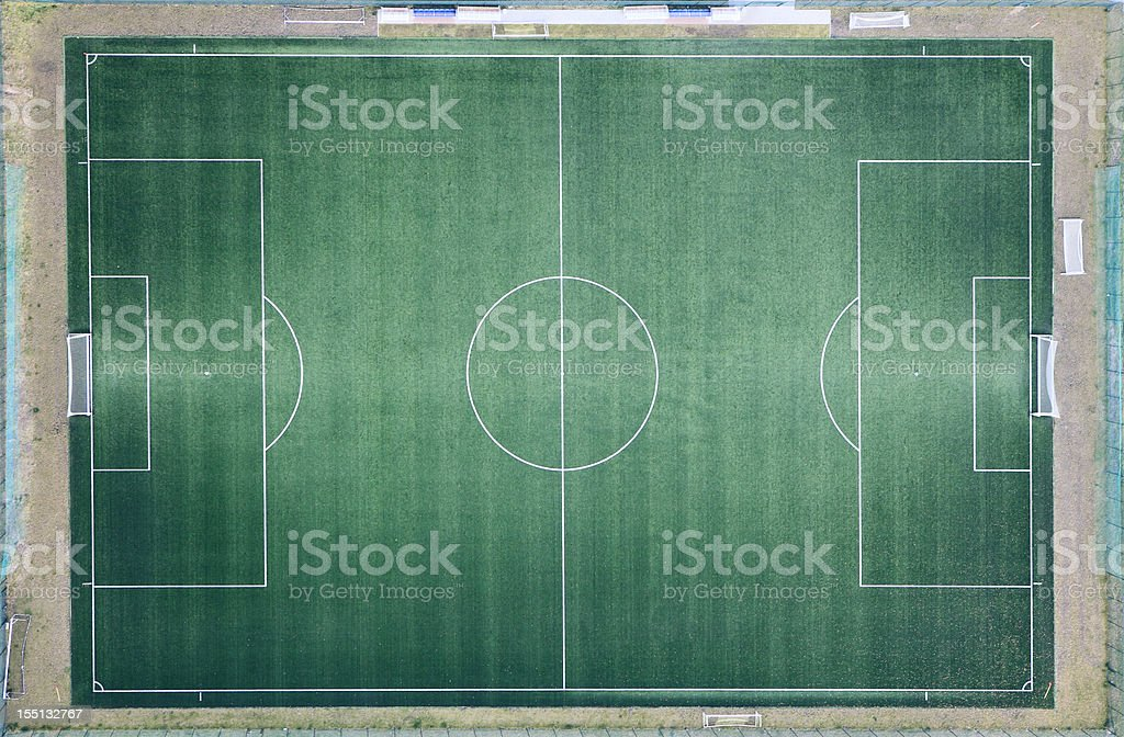 Aerial photo of Football Field stock photo