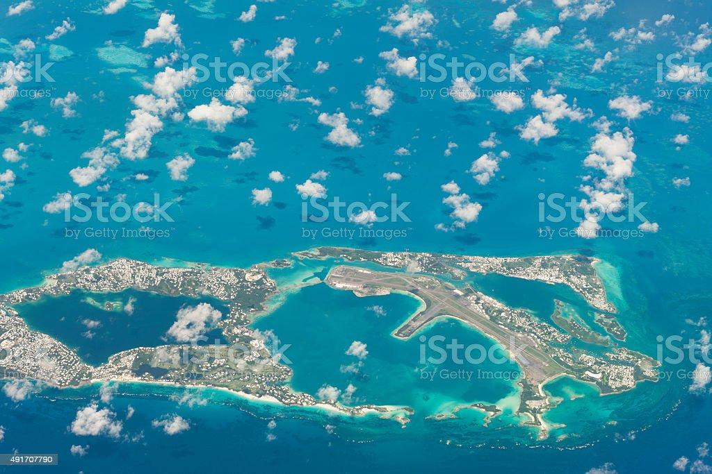 aerial photo of freeport the bahamas stock photo