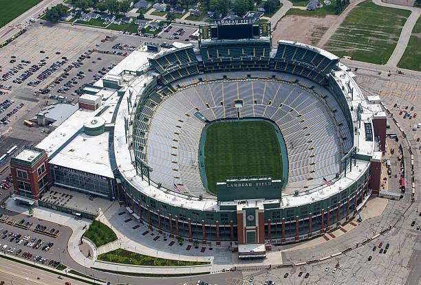 Aerial photo of Lambeau Field stock photo