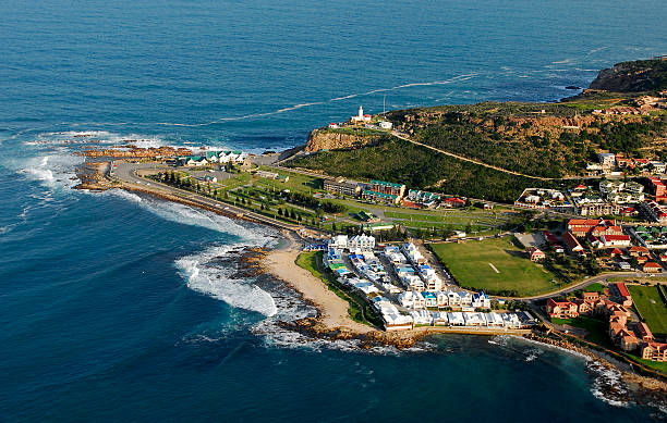 Aerial photo of Mossel Bay - South Africa stock photo
