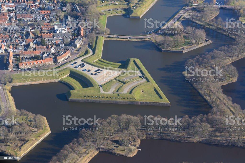 Luftbild der Festung Naarden Vesting – Foto