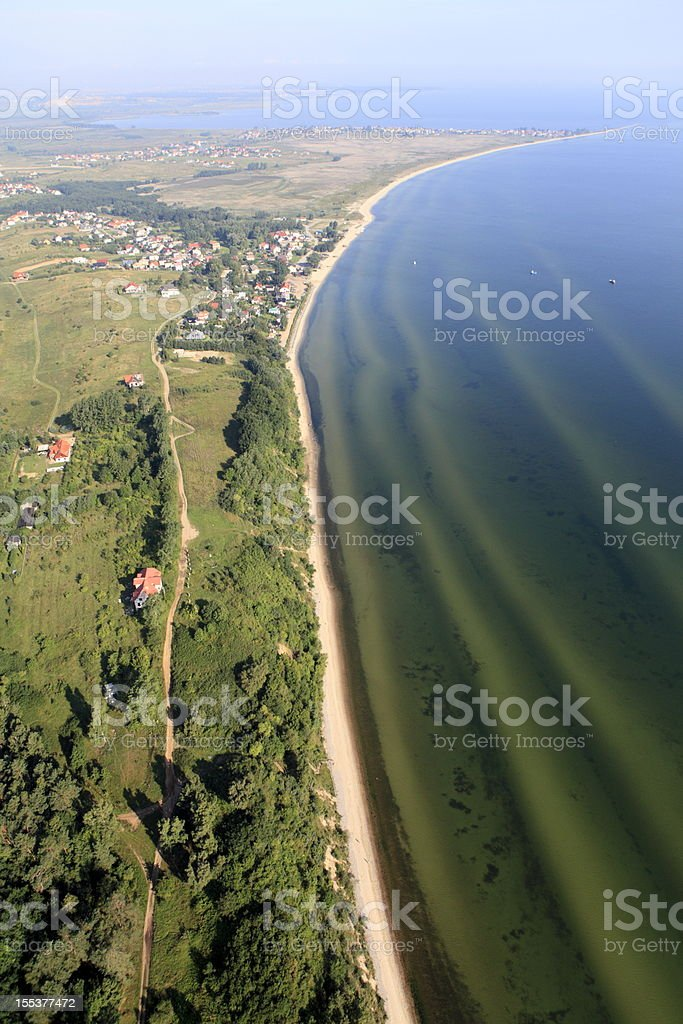 Aerial photo of peninsula.Rewa stock photo